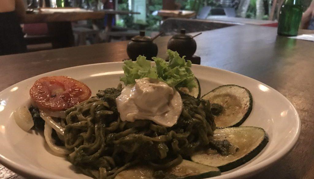 Pesto Pasta på Soma i Ubud Bali